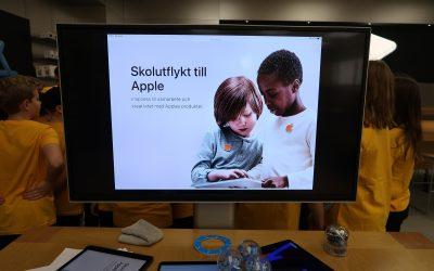 Skolutflykt till Apple Store