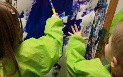 Tillsammans målar vi under diskussion!