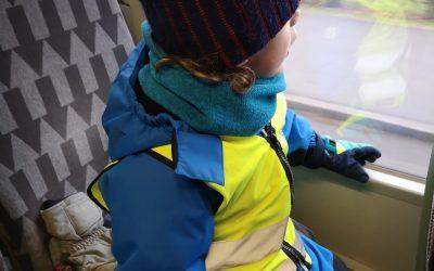 Vi tog bussen till biblioteket torsdagen den 31 januari.