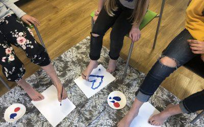 Spännande målningsteknik