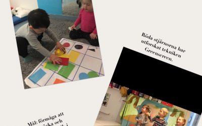 Vi fortsätter att utforska kring digitalisering med barnen.