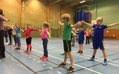 Årets första gymnastiklektion.