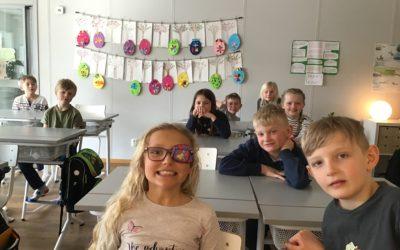 Påskpyssel i klass 1