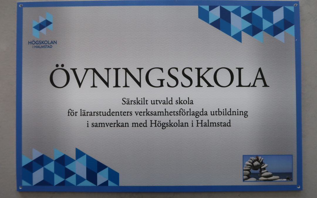 Nu är vi övningsskola till Halmstad högskola!